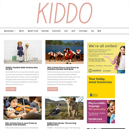 KIDDO Adelaide parenting magazine
