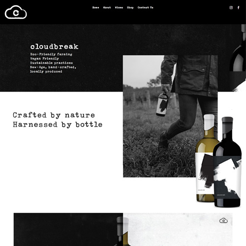 cloudbreak wines wordpress website