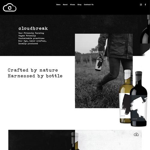 cloudbreak wines wordpress website